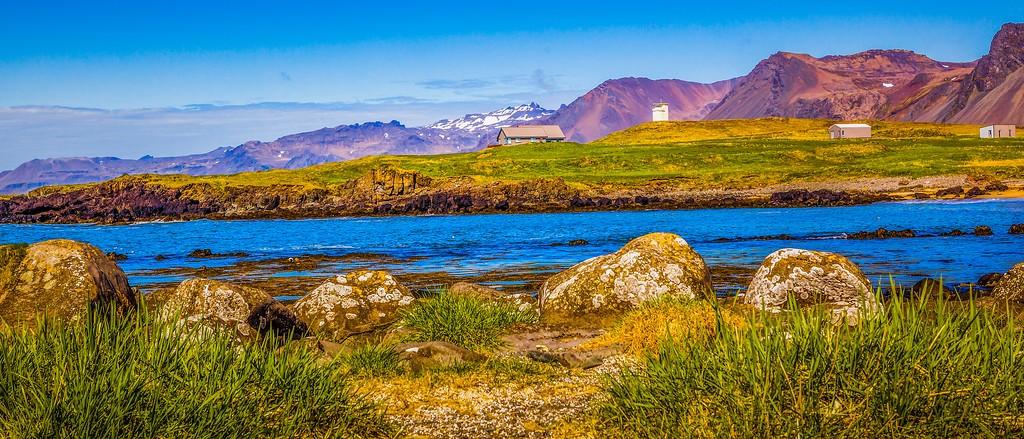 冰岛风采,海岸线上的雪山_图1-25