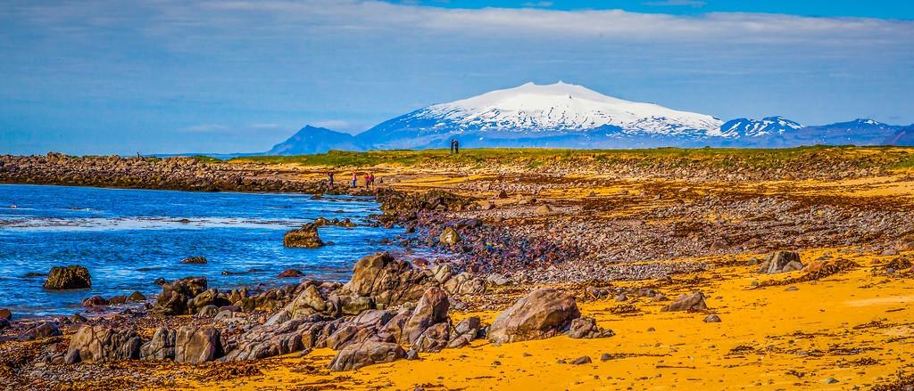 冰岛风采,海岸线上的雪山_图1-27