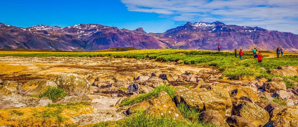 冰岛风采,海岸线上的雪山_图1-21