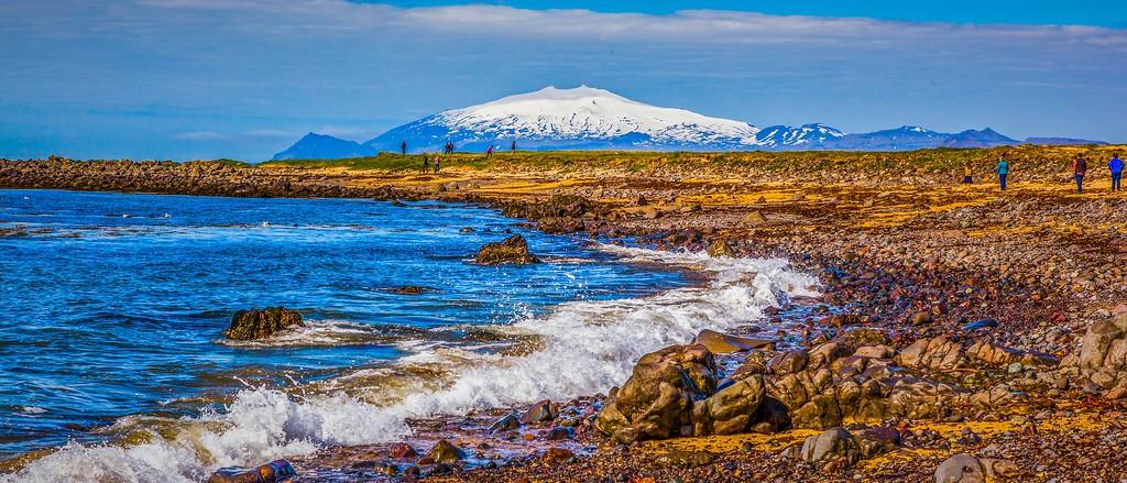 冰岛风采,海岸线上的雪山_图1-19