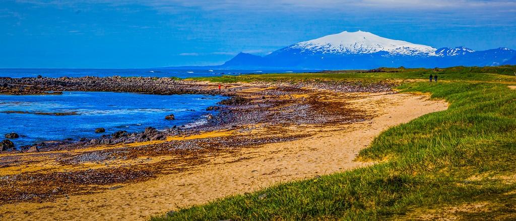 冰岛风采,海岸线上的雪山_图1-18
