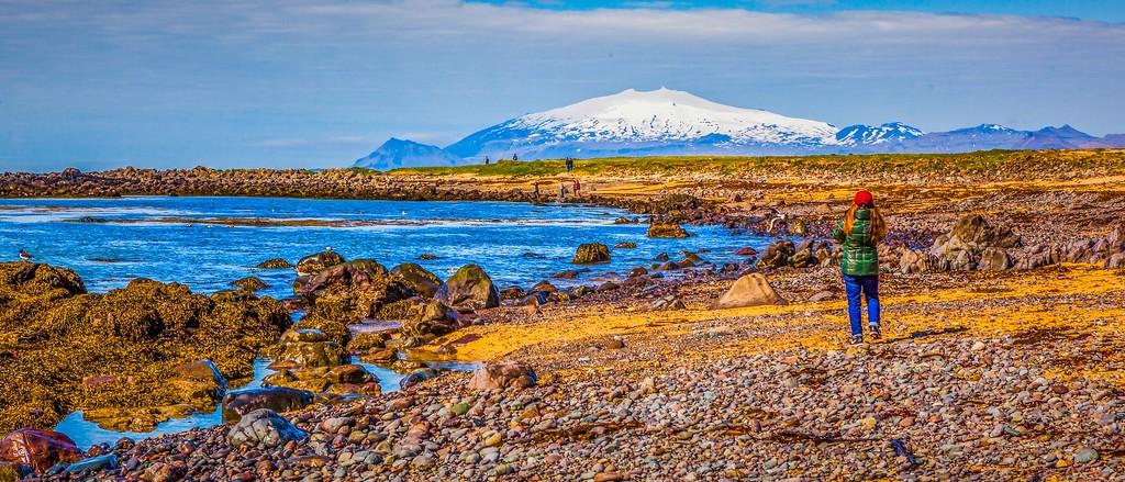 冰岛风采,海岸线上的雪山_图1-20