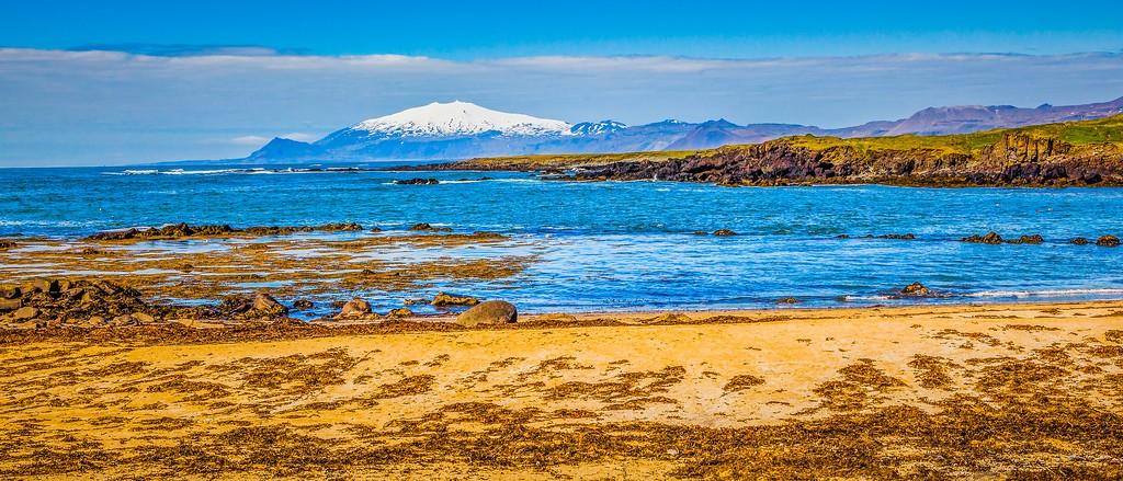 冰岛风采,海岸线上的雪山_图1-22
