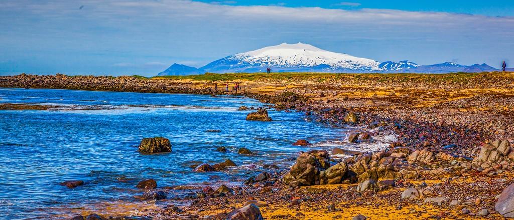冰岛风采,海岸线上的雪山_图1-10