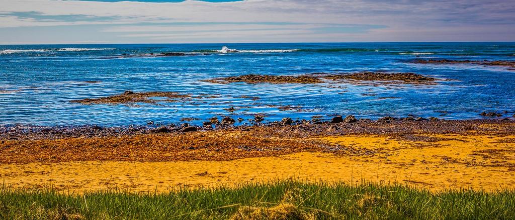 冰岛风采,海岸线上的雪山_图1-17
