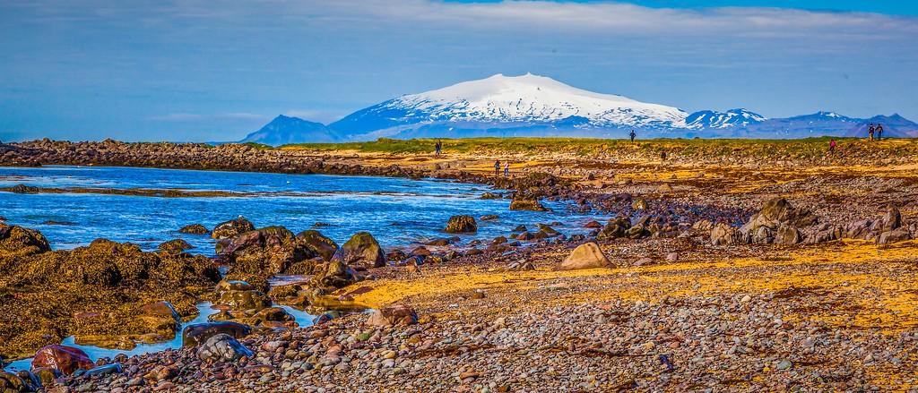 冰岛风采,海岸线上的雪山_图1-16