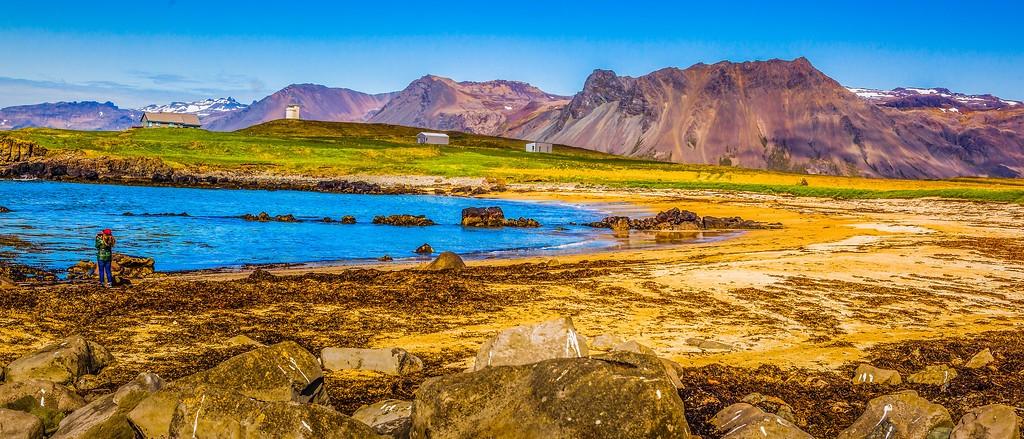 冰岛风采,海岸线上的雪山_图1-9
