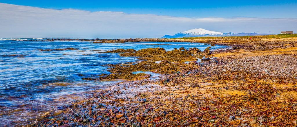 冰岛风采,海岸线上的雪山_图1-13