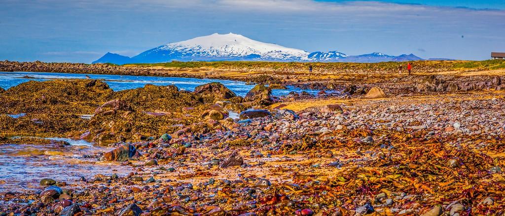冰岛风采,海岸线上的雪山_图1-2