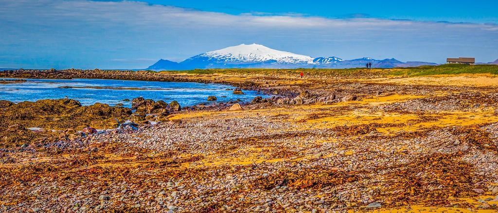 冰岛风采,海岸线上的雪山_图1-7