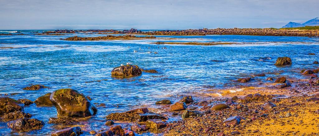 冰岛风采,海岸线上的雪山_图1-30