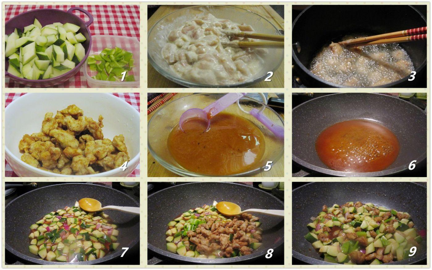 酸甜鸡丁西葫芦_图1-2