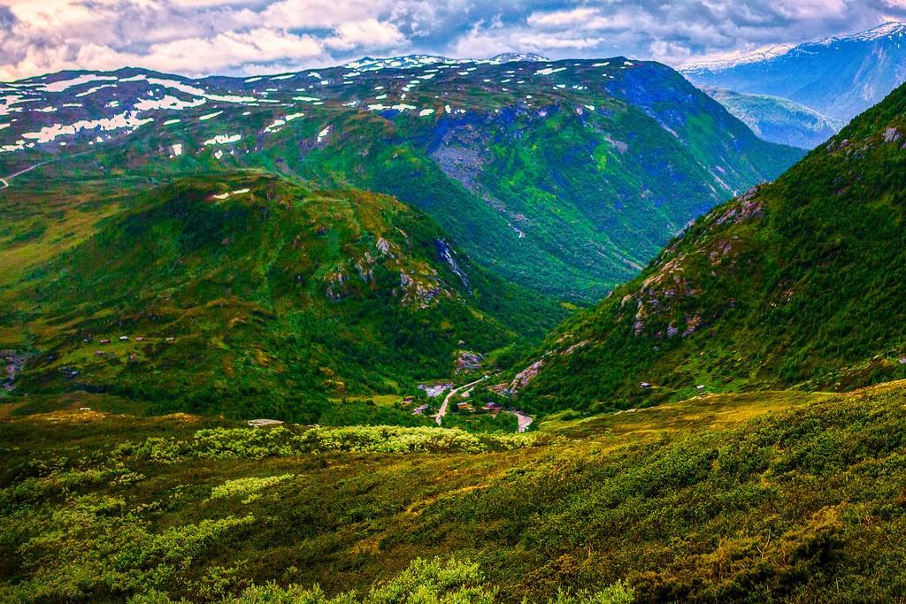 北欧风光,眺望雪山_图1-36