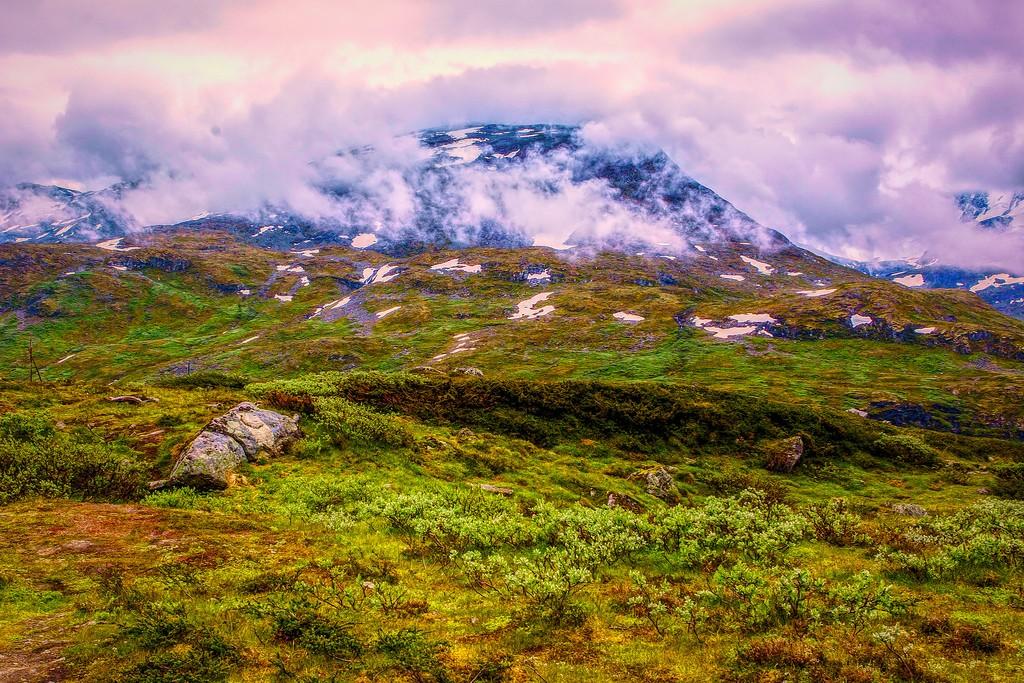 北欧风光,眺望雪山_图1-25