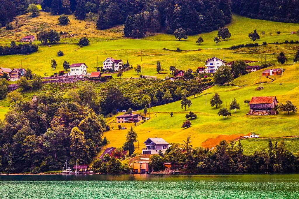 瑞士卢塞恩(Lucerne),山坡上的民居_图1-40