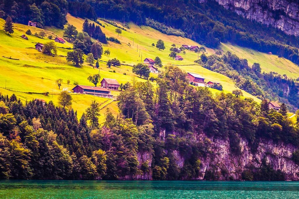 瑞士卢塞恩(Lucerne),山坡上的民居_图1-38