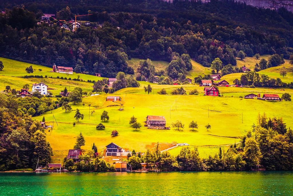 瑞士卢塞恩(Lucerne),山坡上的民居_图1-35