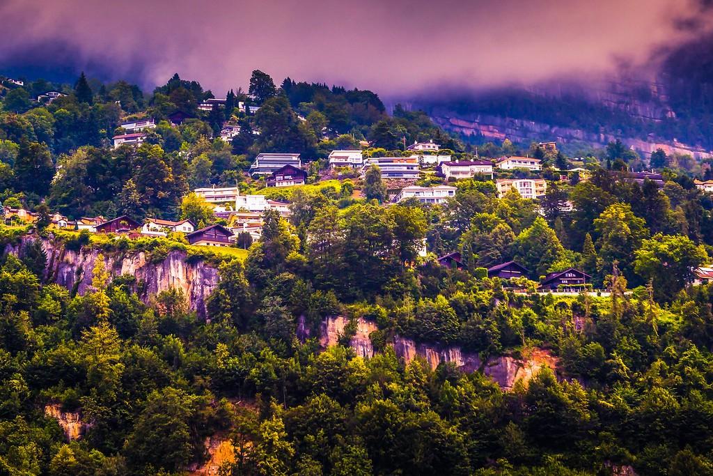 瑞士卢塞恩(Lucerne),山坡上的民居_图1-32