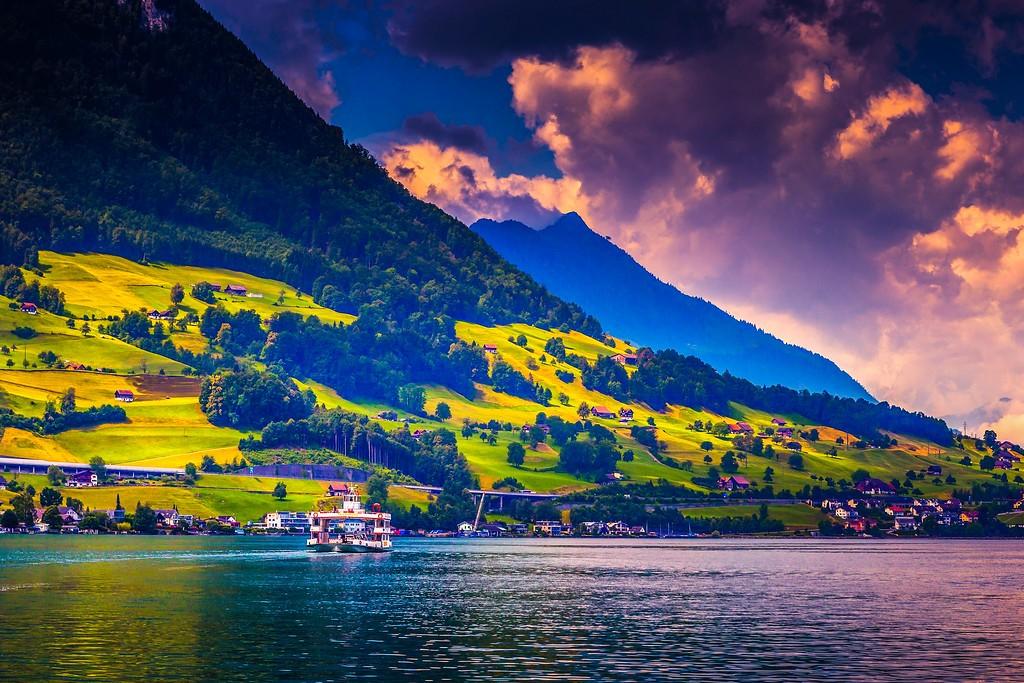 瑞士卢塞恩(Lucerne),山坡上的民居_图1-34