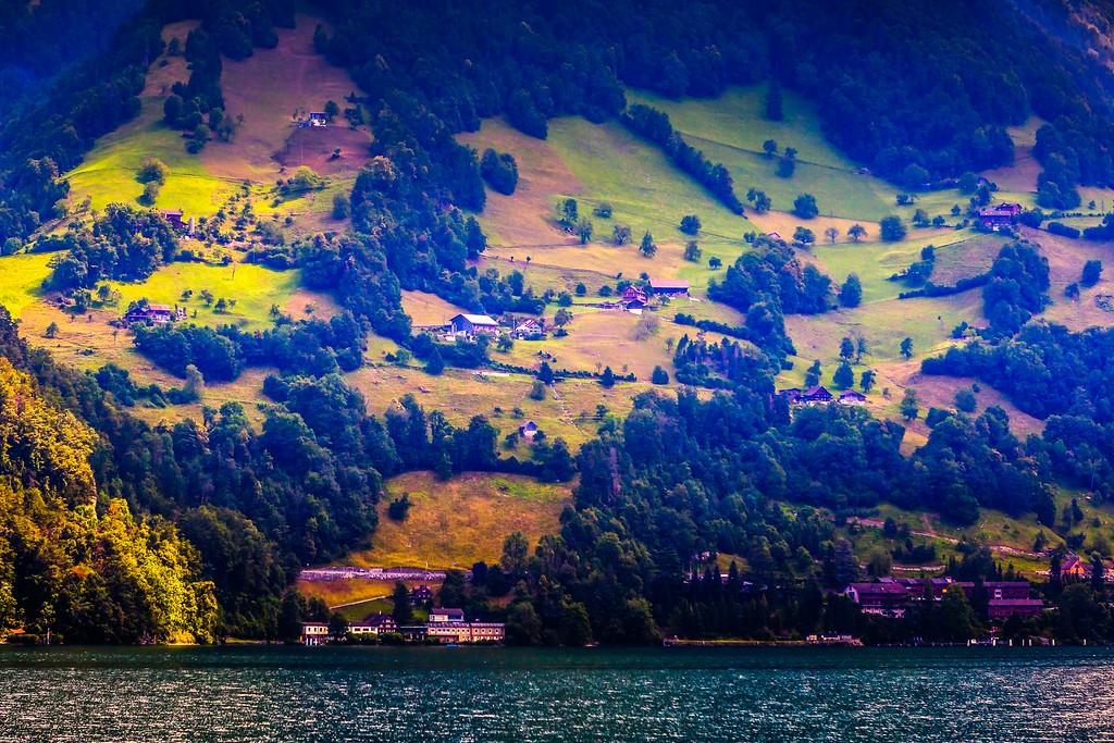 瑞士卢塞恩(Lucerne),山坡上的民居_图1-30