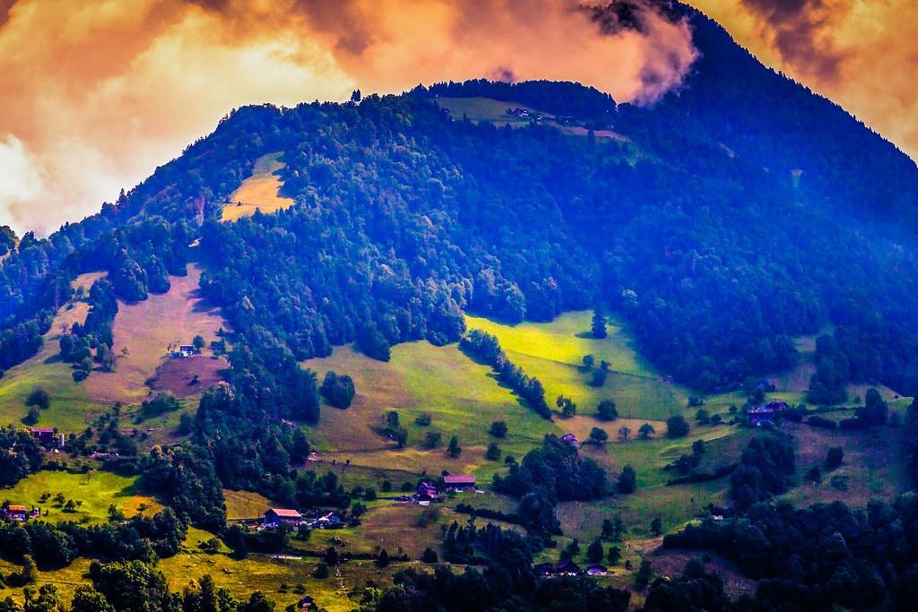 瑞士卢塞恩(Lucerne),山坡上的民居_图1-29