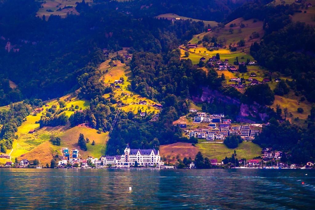 瑞士卢塞恩(Lucerne),山坡上的民居_图1-25