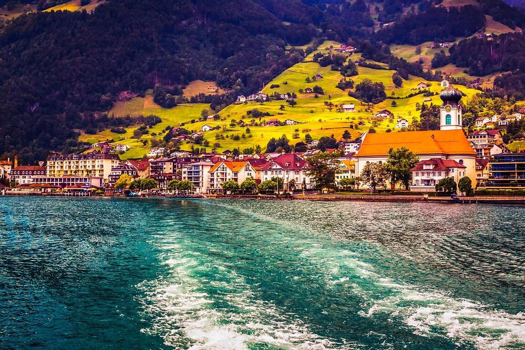 瑞士卢塞恩(Lucerne),山坡上的民居_图1-27