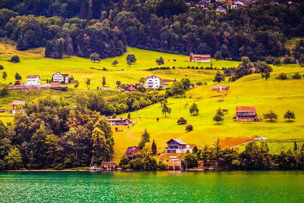 瑞士卢塞恩(Lucerne),山坡上的民居_图1-28