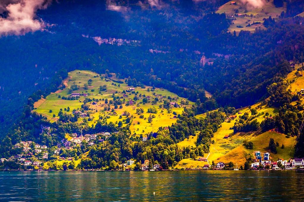 瑞士卢塞恩(Lucerne),山坡上的民居_图1-6