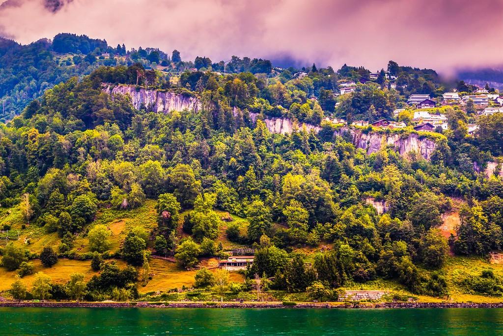 瑞士卢塞恩(Lucerne),山坡上的民居_图1-11