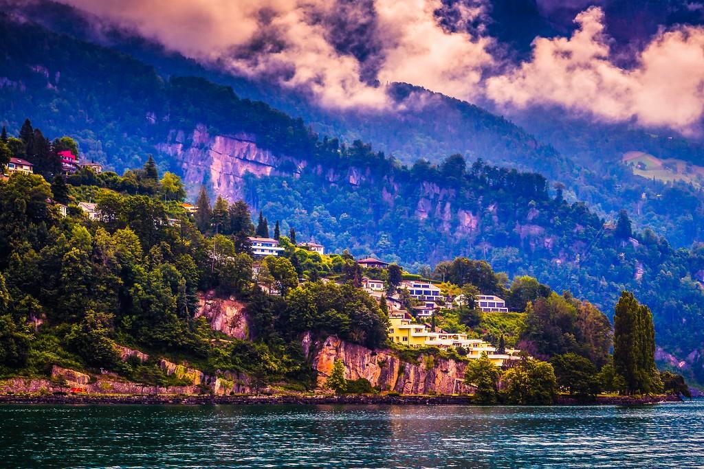 瑞士卢塞恩(Lucerne),山坡上的民居_图1-9