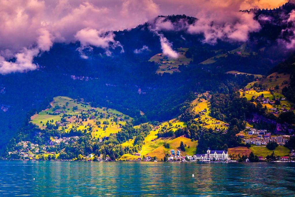 瑞士卢塞恩(Lucerne),山坡上的民居_图1-10