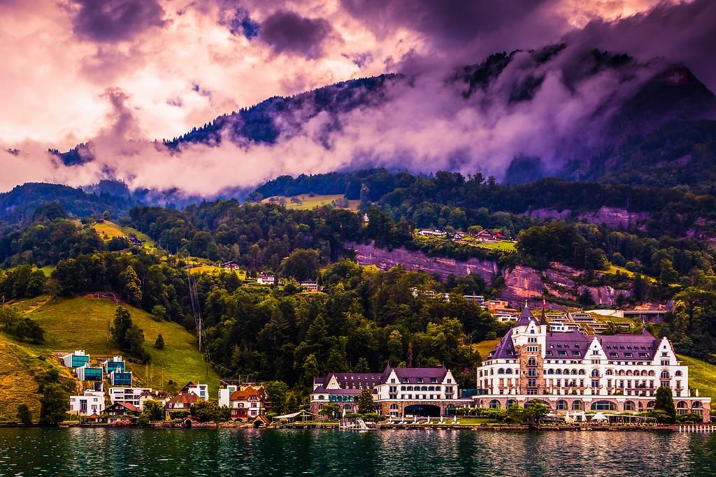瑞士卢塞恩(Lucerne),山坡上的民居_图1-13