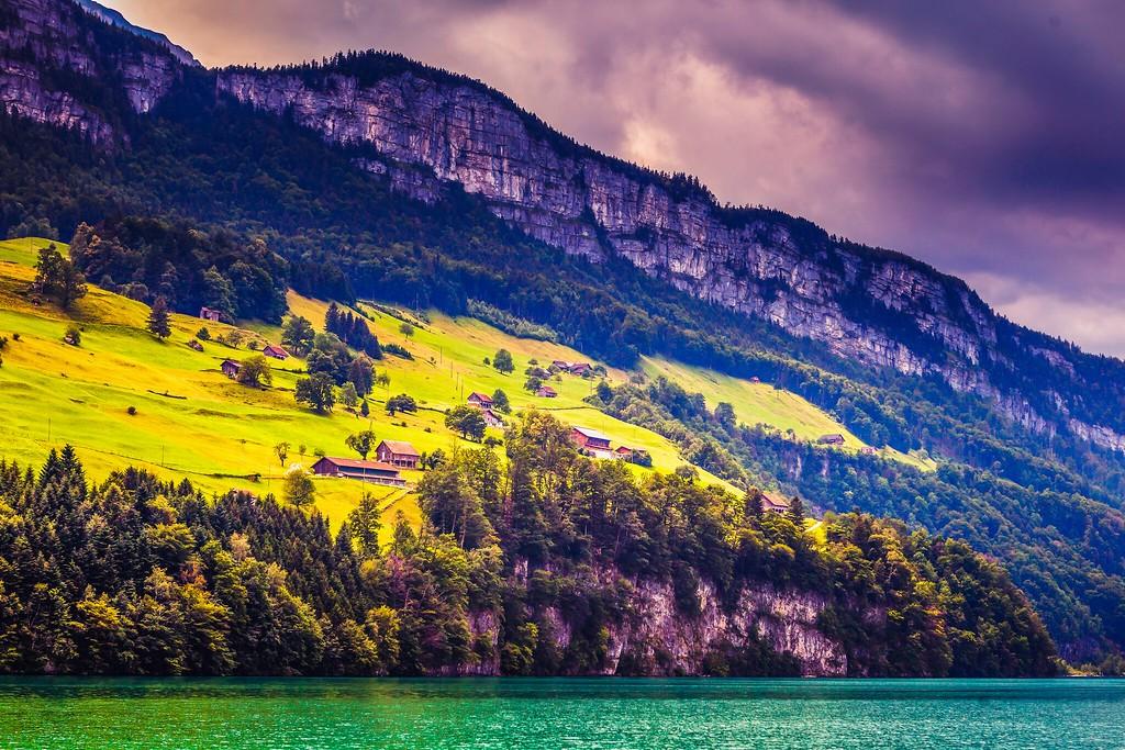 瑞士卢塞恩(Lucerne),山坡上的民居_图1-14