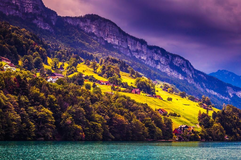 瑞士卢塞恩(Lucerne),山坡上的民居_图1-18