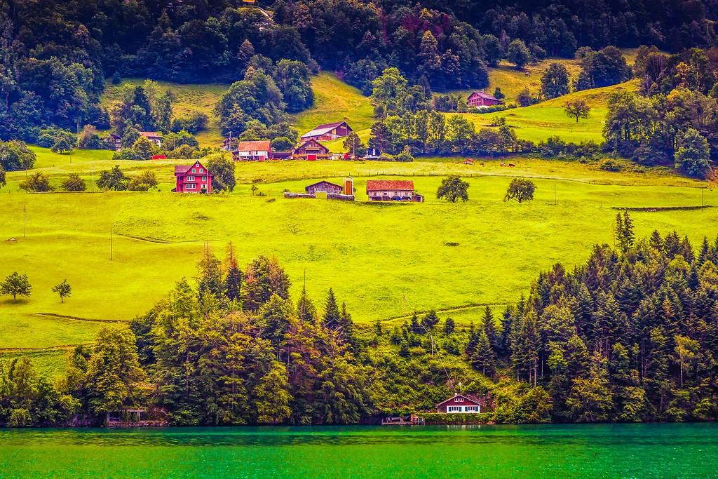 瑞士卢塞恩(Lucerne),山坡上的民居_图1-20