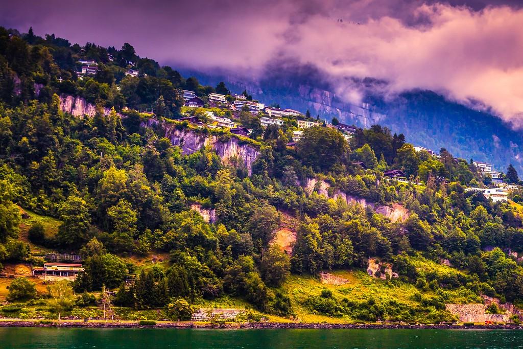 瑞士卢塞恩(Lucerne),山坡上的民居_图1-17