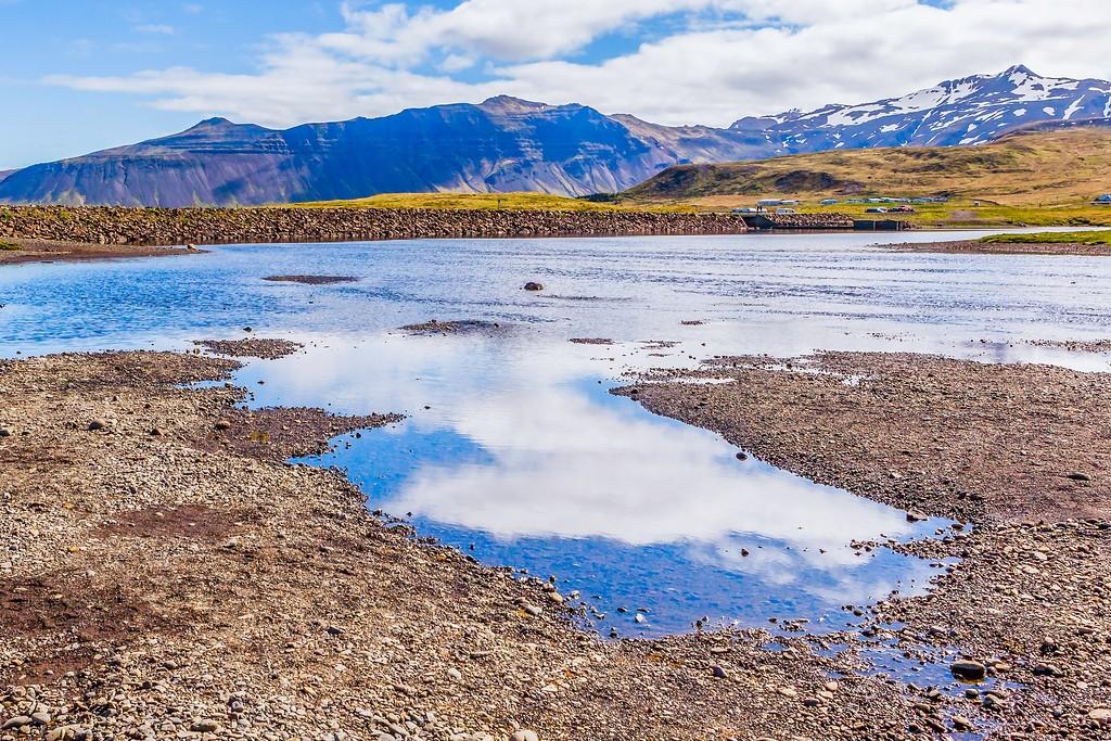 冰岛Kirkjufellsfoss,雪山瀑布_图1-11