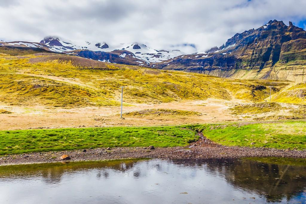 冰岛Kirkjufellsfoss,雪山瀑布_图1-5