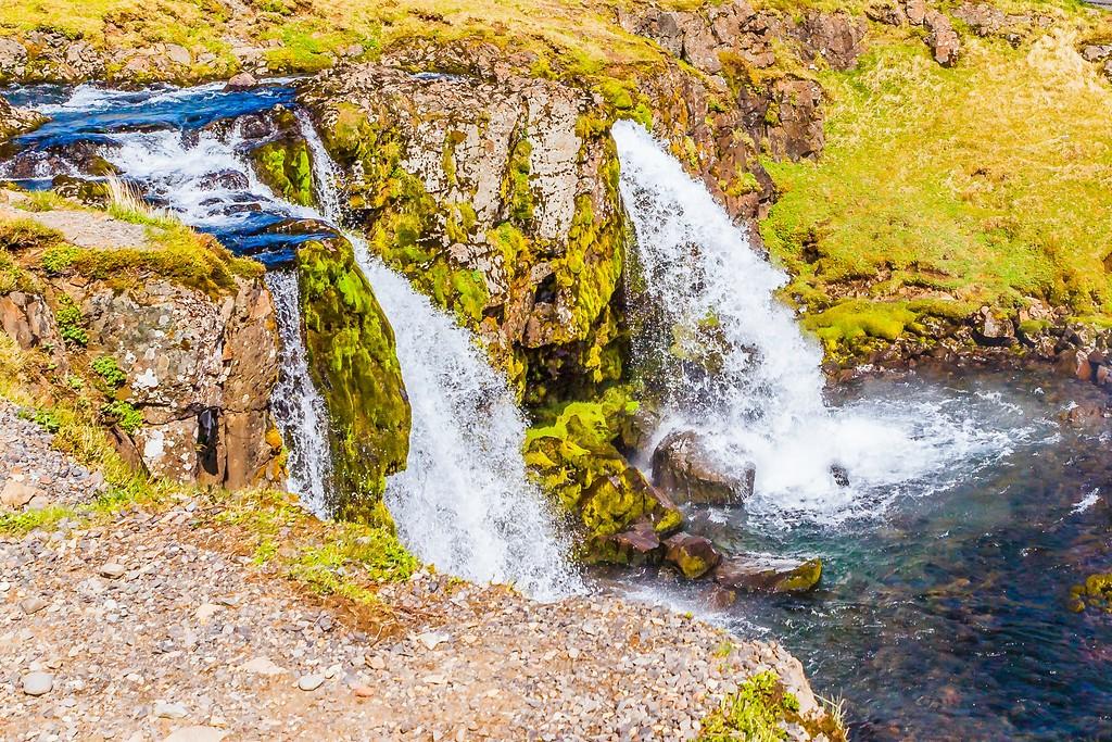 冰岛Kirkjufellsfoss,雪山瀑布_图1-29