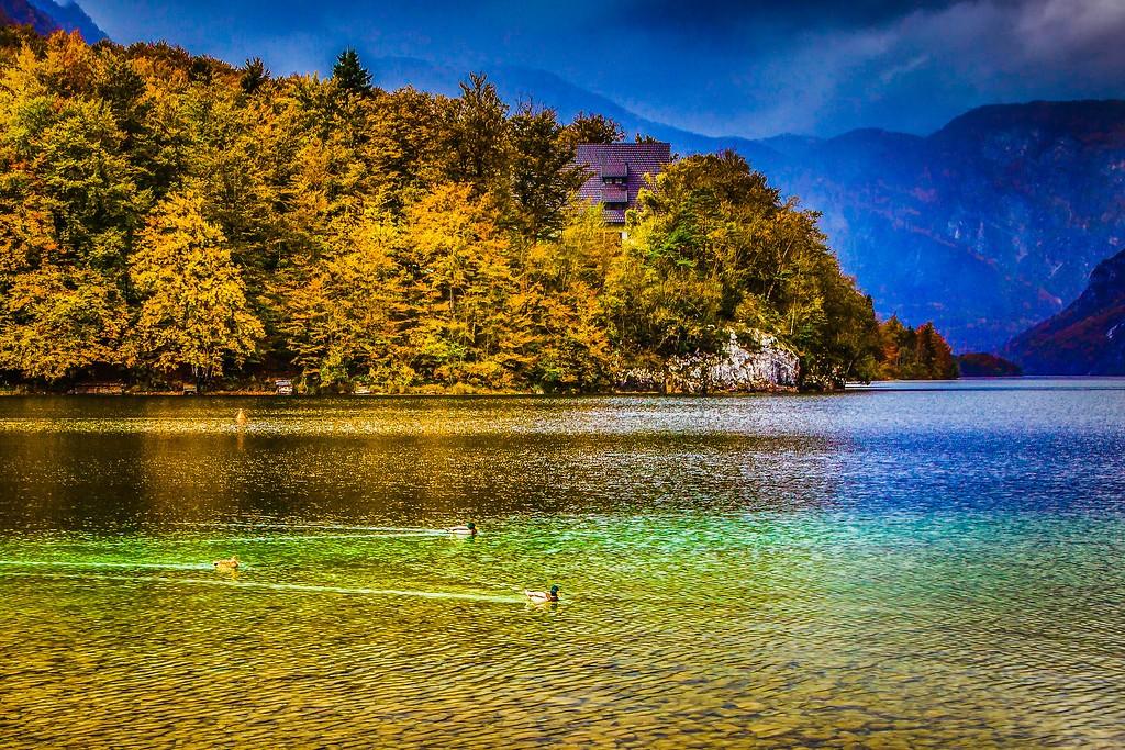 斯洛文尼亚博希尼湖(Lake Bohinj),美景如画_图1-3