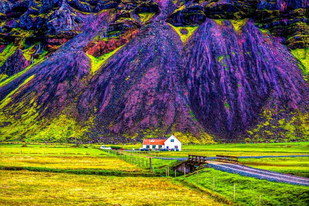 冰岛风采,大山彩裙_图1-1