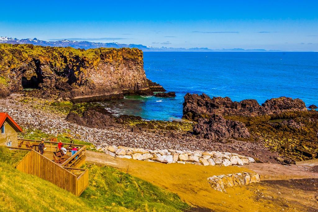 冰岛Arnarstapi,脚踏礁石_图1-19