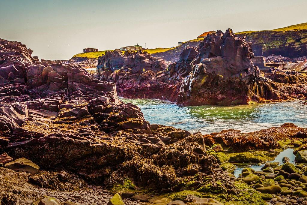 冰岛Arnarstapi,脚踏礁石_图1-34