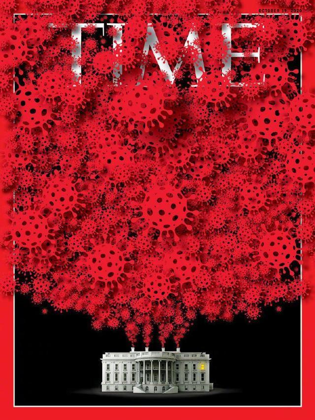 时代杂志最新封面,白宫顶上的病毒_图1-1