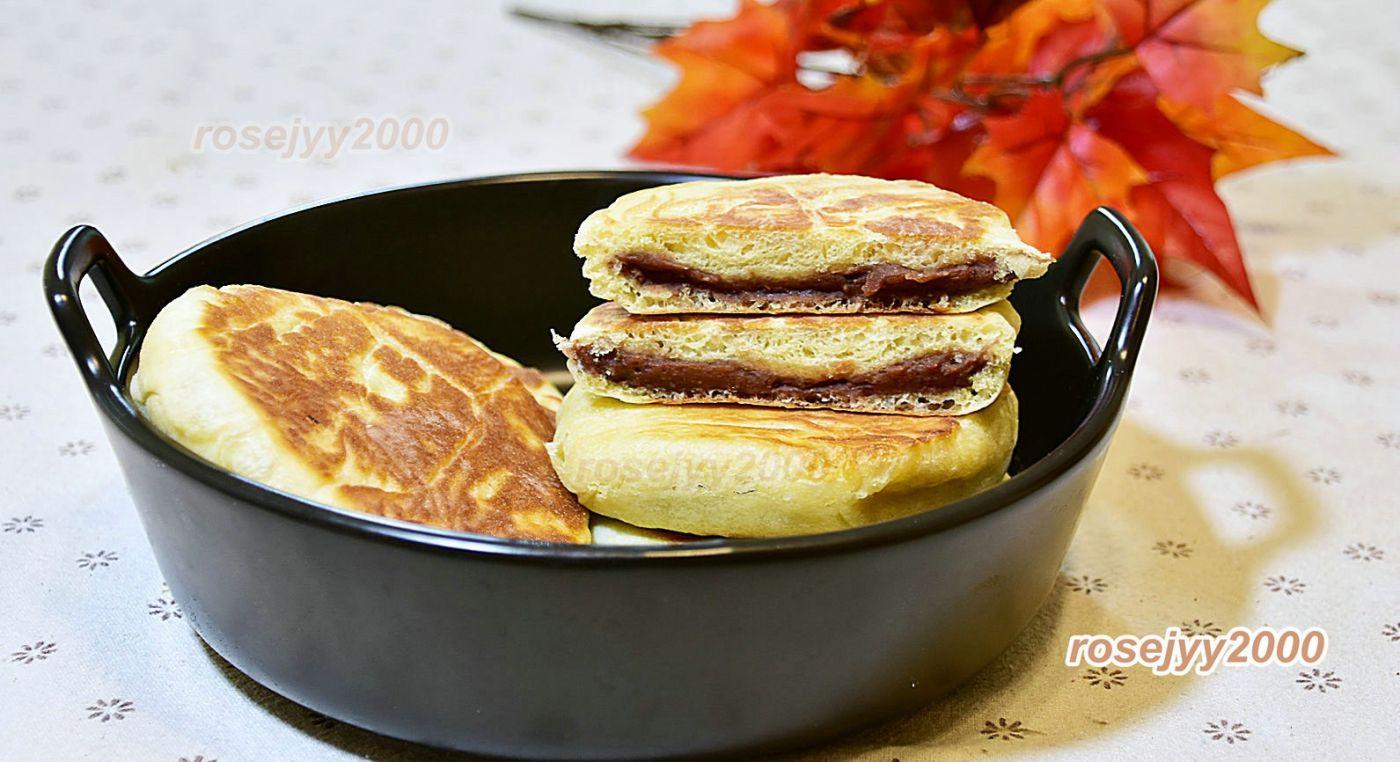 平底锅烘豆沙饼_图1-1