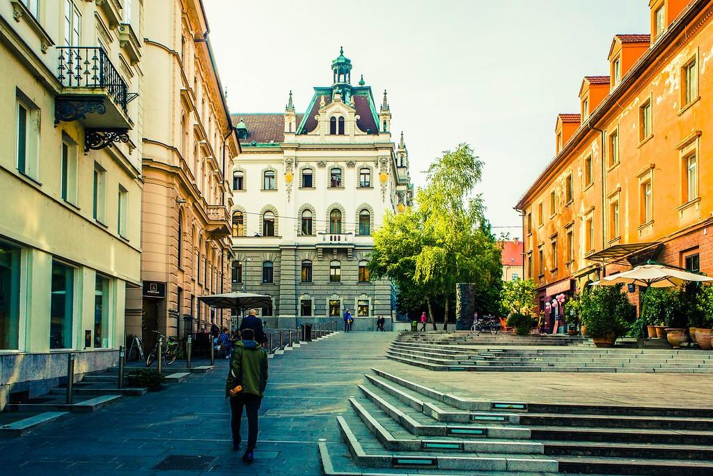 斯洛文尼亚首都卢布尔雅那(Ljubljana), 城市风貌_图1-2