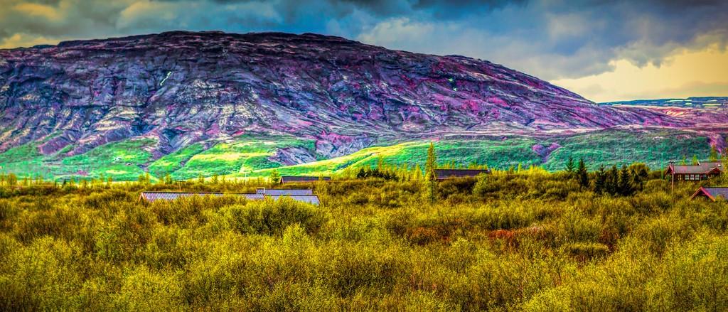 冰岛风采,彩色画布_图1-4