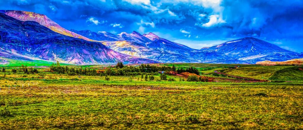 冰岛风采,彩色画布_图1-1