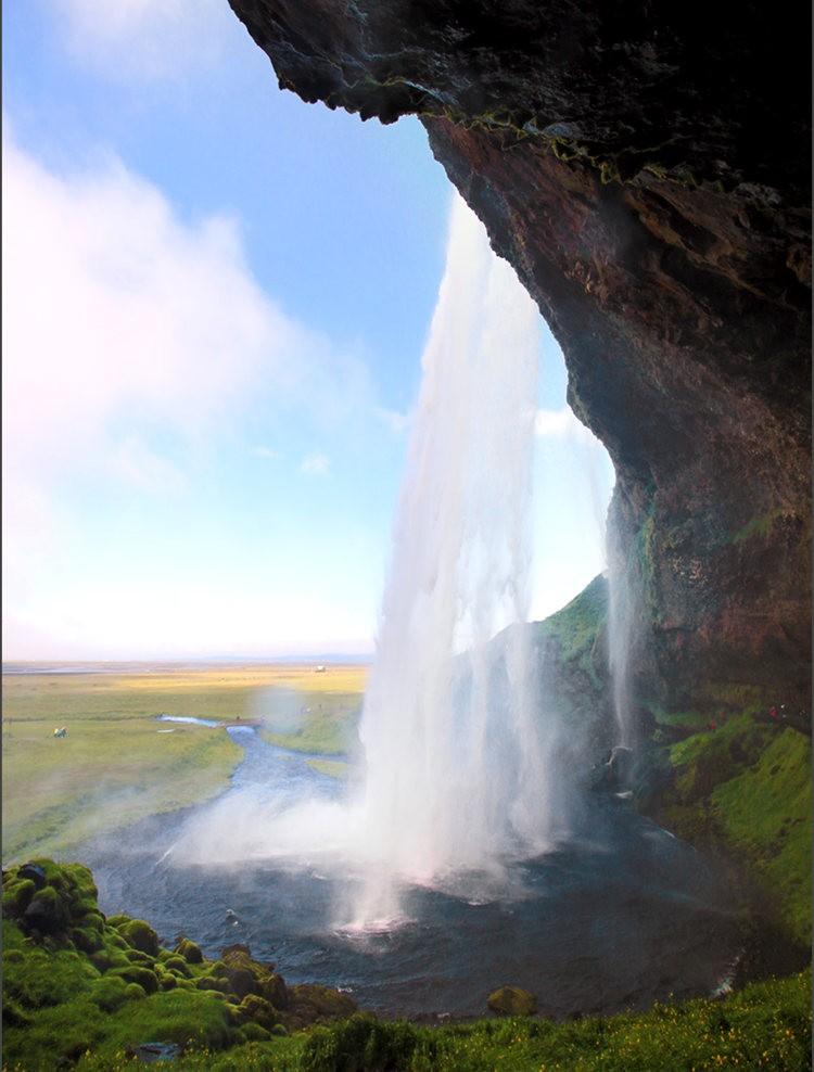 冰岛的两条瀑布与黑海滩_图1-15